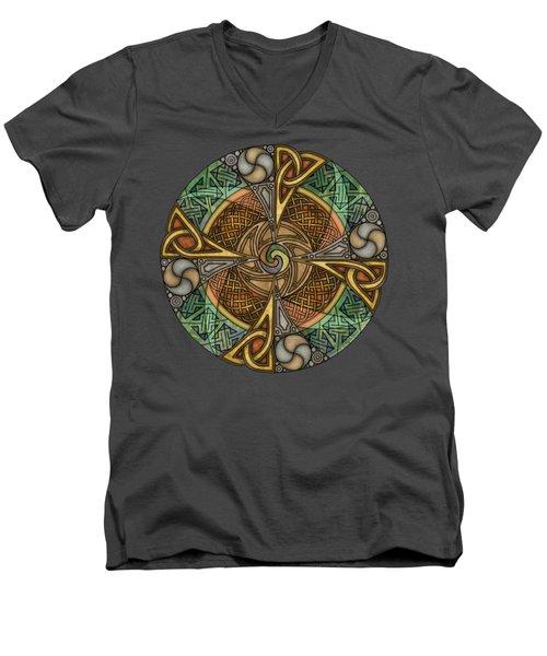 Celtic Aperture Mandala Men's V-Neck T-Shirt