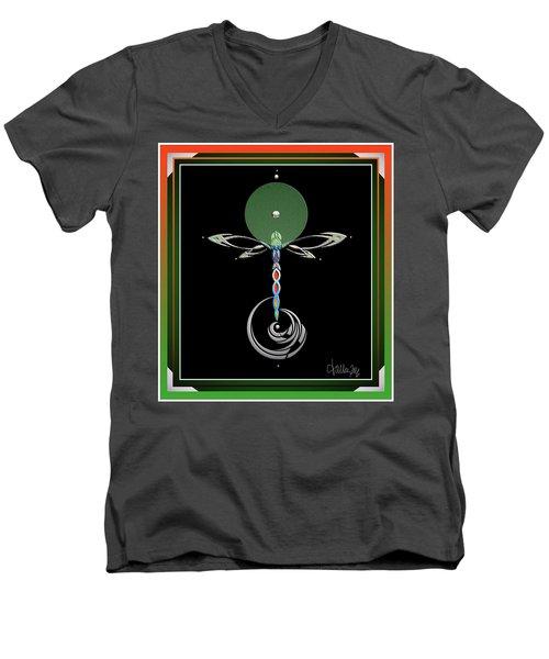 Celtic Dragonfly Men's V-Neck T-Shirt