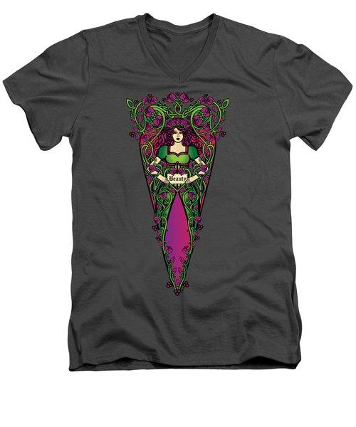 Celtic Forest Fairy - Beauty Men's V-Neck T-Shirt