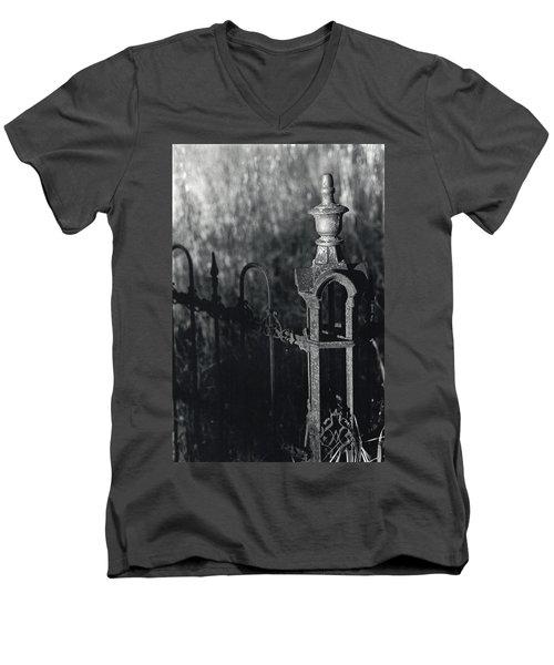 Cemetery  Fence Men's V-Neck T-Shirt