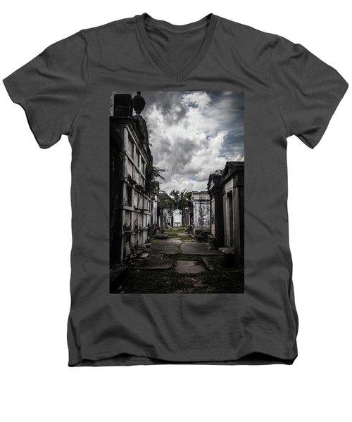 Cemetery Row Men's V-Neck T-Shirt