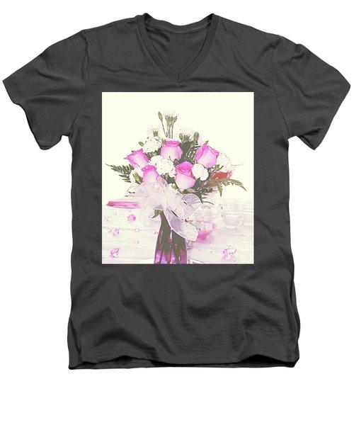 Centerpiece Men's V-Neck T-Shirt by Inspirational Photo Creations Audrey Woods
