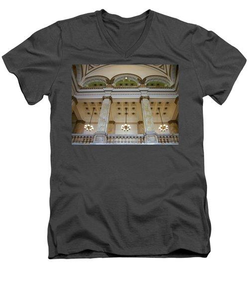 Central Library Milwaukee Interior Men's V-Neck T-Shirt