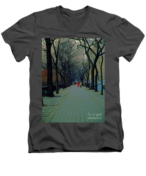 Central Park East Men's V-Neck T-Shirt