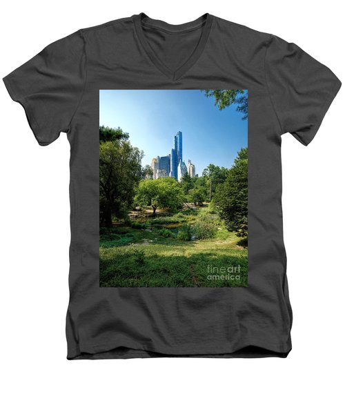 Central Park Ny Men's V-Neck T-Shirt
