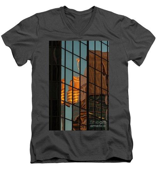 Centrepoint Hiding Men's V-Neck T-Shirt by Werner Padarin