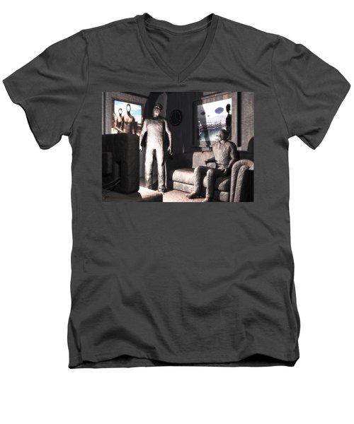 Cerebral Incinerator Men's V-Neck T-Shirt by John Alexander