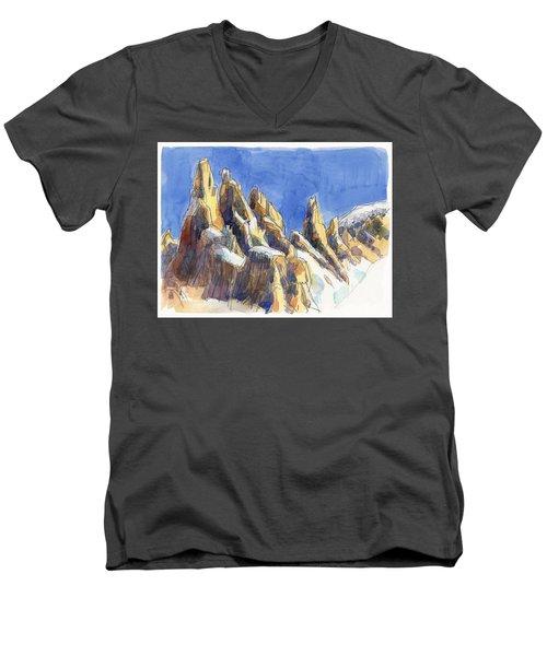 Cerro Torre, Patagonia Men's V-Neck T-Shirt
