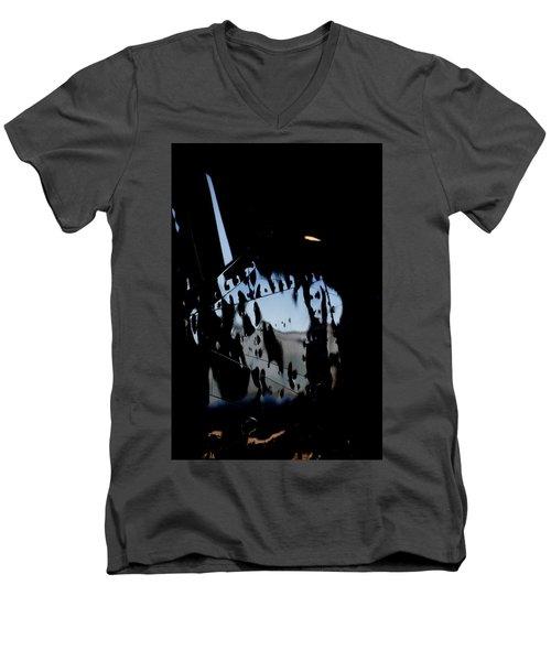 Men's V-Neck T-Shirt featuring the photograph Cessna Art I by Paul Job