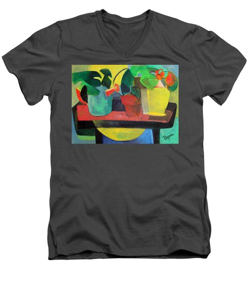 Cezanne Potting Stand Men's V-Neck T-Shirt