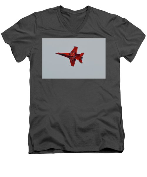Cf-18 Demonstration For Canada 150  Men's V-Neck T-Shirt