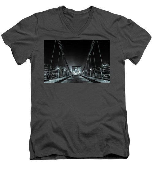 Chain Bridge Men's V-Neck T-Shirt