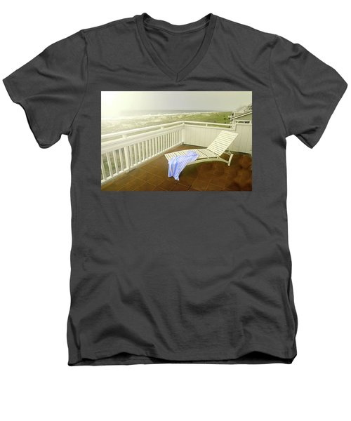 Chaise Lounge Men's V-Neck T-Shirt by Diana Angstadt