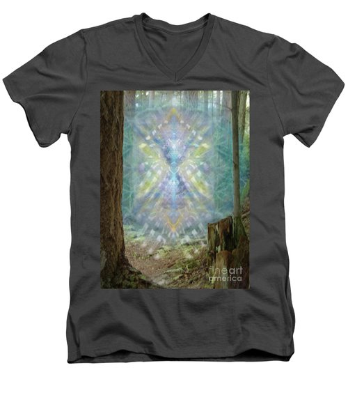 Chalice-tree Spirt In The Forest V2 Men's V-Neck T-Shirt