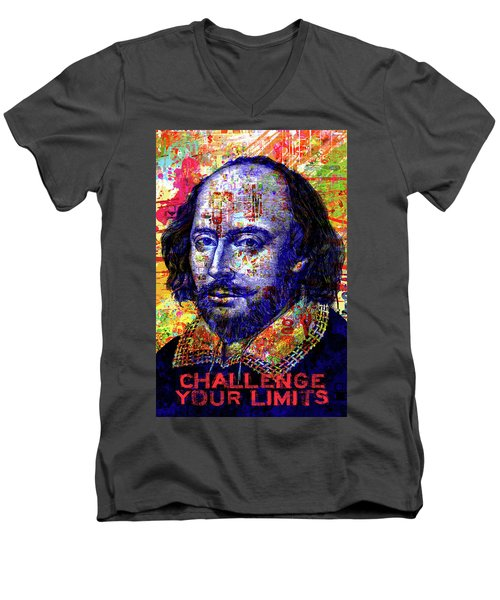 Challenge Your Limits Men's V-Neck T-Shirt by Gary Grayson