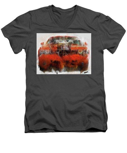 Challenger Wash Men's V-Neck T-Shirt by Michael Cleere