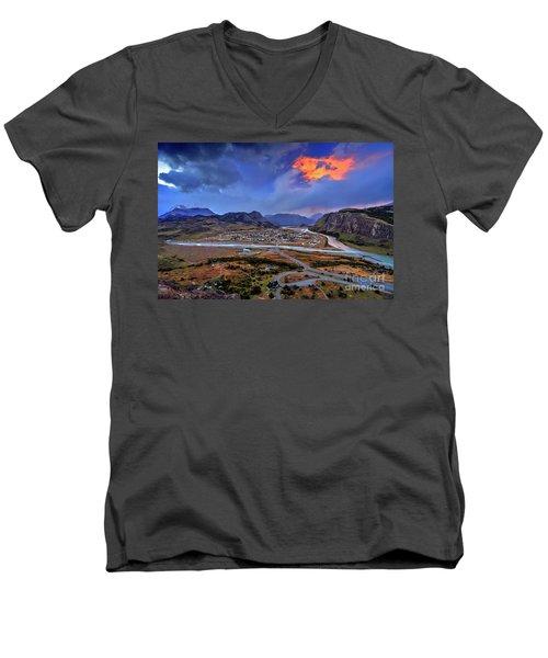 Chalten-03 Men's V-Neck T-Shirt by Bernardo Galmarini