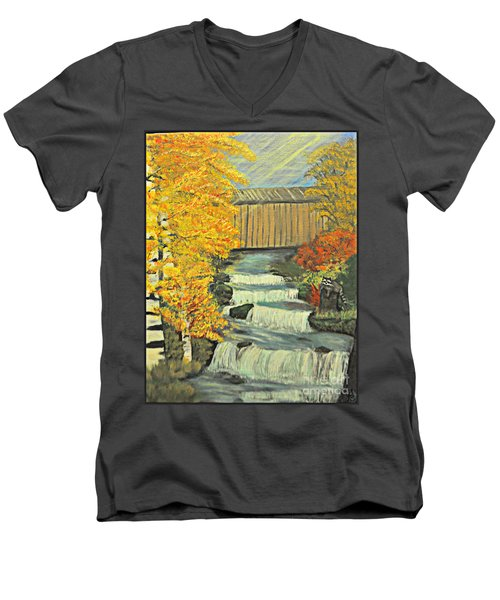 Chambers Covered Bridge  Men's V-Neck T-Shirt