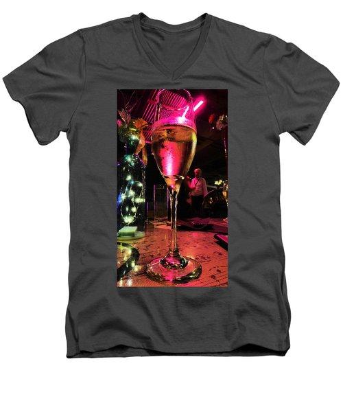 Champagne And Jazz Men's V-Neck T-Shirt