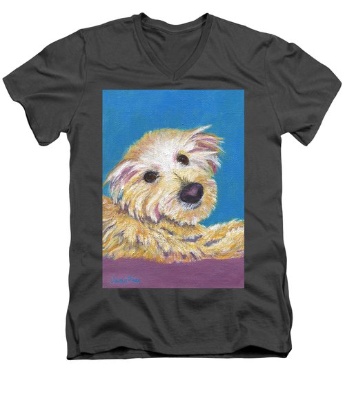 Men's V-Neck T-Shirt featuring the painting Chance by Jamie Frier