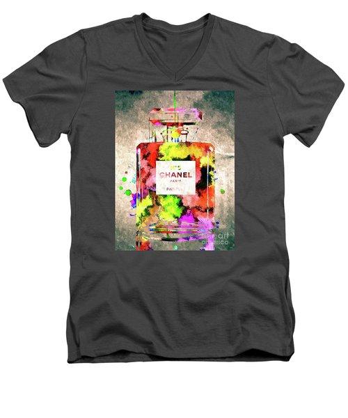 Chanel No 5 Men's V-Neck T-Shirt by Daniel Janda