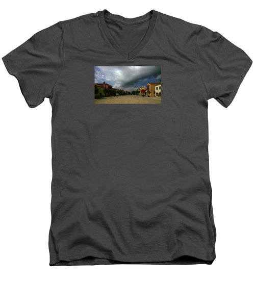 Men's V-Neck T-Shirt featuring the photograph Change In The Weather by Anne Kotan