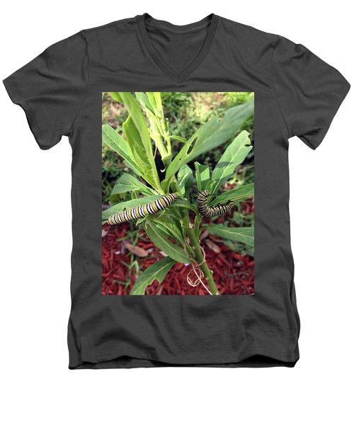 Change Is Coming Men's V-Neck T-Shirt by Audrey Robillard