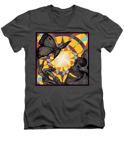 Change Mandala Men's V-Neck T-Shirt by Deadcharming Art