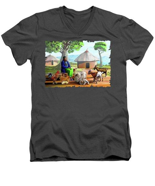 Change Of Scene Men's V-Neck T-Shirt by Anthony Mwangi
