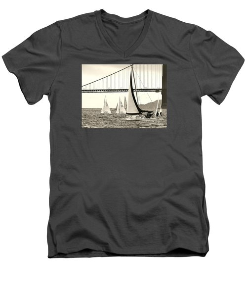 Changes In Attitude Men's V-Neck T-Shirt by Scott Cameron