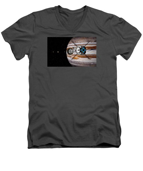 Men's V-Neck T-Shirt featuring the digital art Changing Course by David Robinson