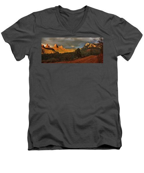 Changing Hues At Sunset Men's V-Neck T-Shirt