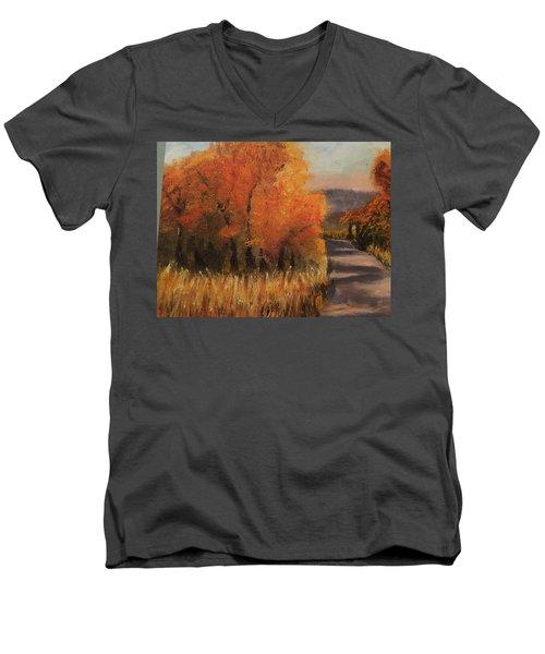 Changing Season Men's V-Neck T-Shirt by Sharon Schultz