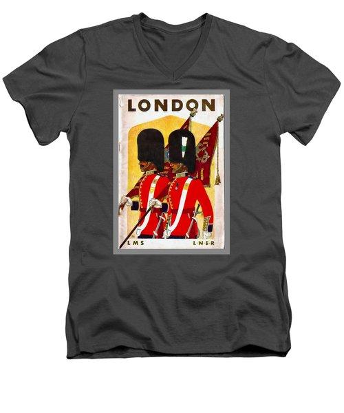 Changing The Guard London - 1937 Men's V-Neck T-Shirt