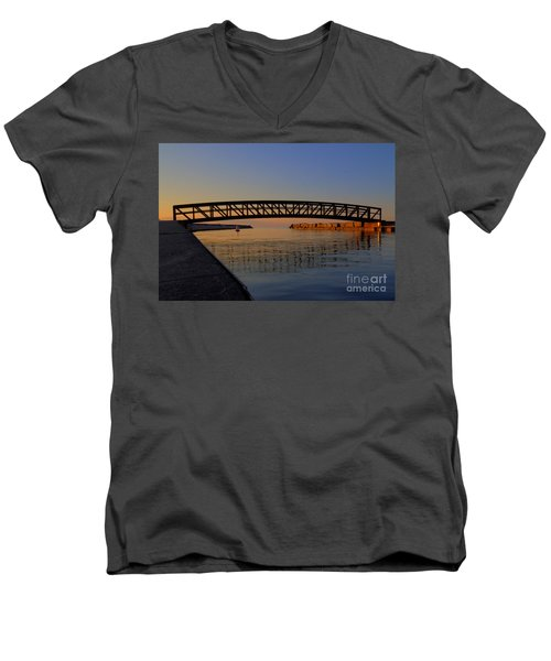 Channel Sunset Men's V-Neck T-Shirt