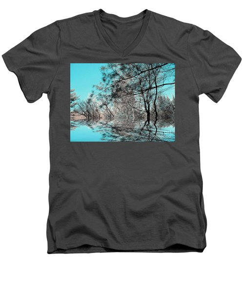 Men's V-Neck T-Shirt featuring the photograph Chaos  by Elfriede Fulda