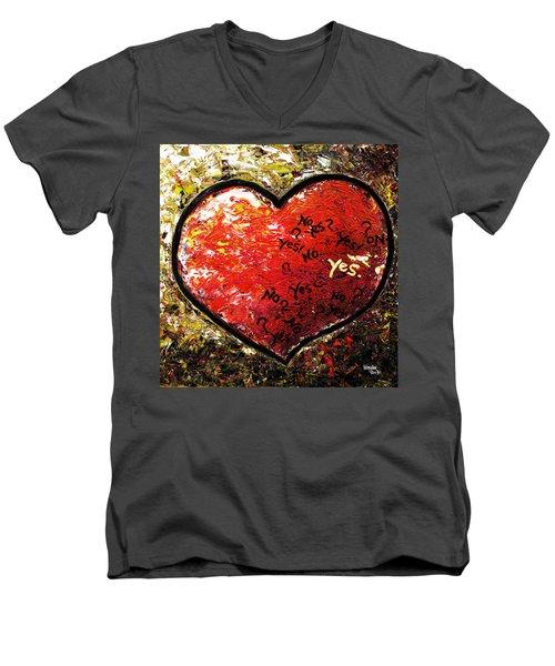 Chaos In Heart Men's V-Neck T-Shirt