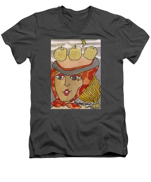 Chapeau Pommes Men's V-Neck T-Shirt