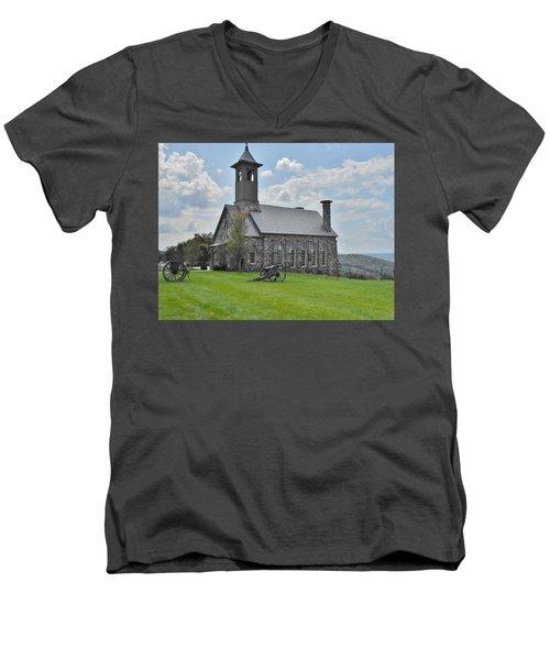 Chapel 2 Men's V-Neck T-Shirt by Julie Grace