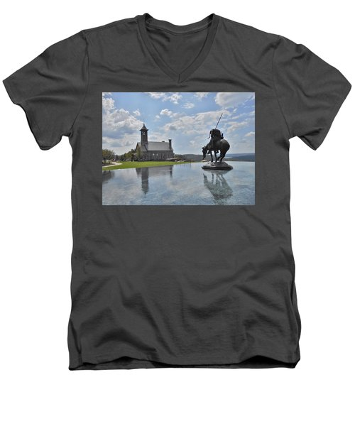 Chapel And Infinity Pool Men's V-Neck T-Shirt by Julie Grace