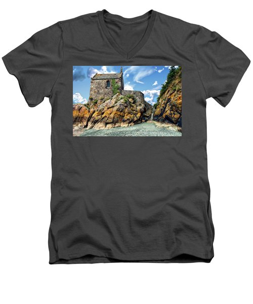 Chapel Saint-aubert Men's V-Neck T-Shirt