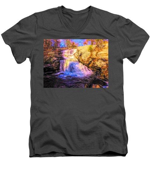Chapman Falls Connecticut Men's V-Neck T-Shirt