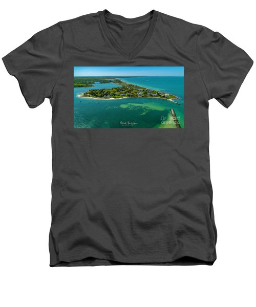 Chapoquoit Island Men's V-Neck T-Shirt