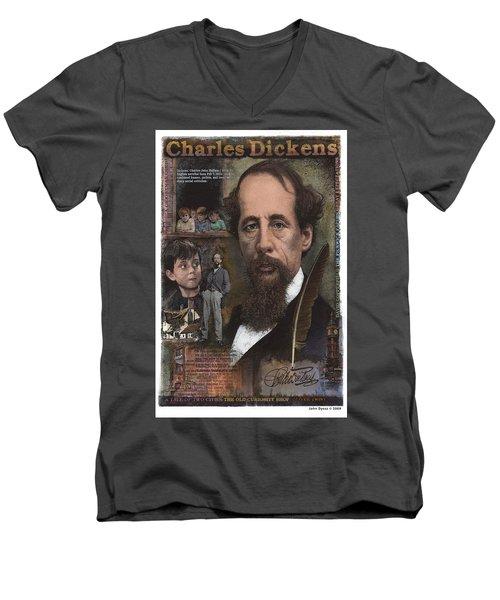 Charles Dickens Men's V-Neck T-Shirt