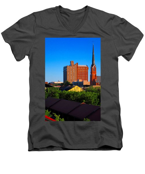 Charleston Buildings Men's V-Neck T-Shirt