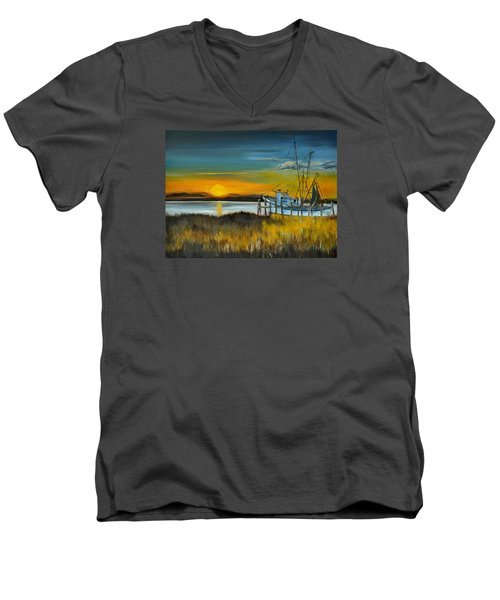 Charleston Low Country Men's V-Neck T-Shirt by Lindsay Frost