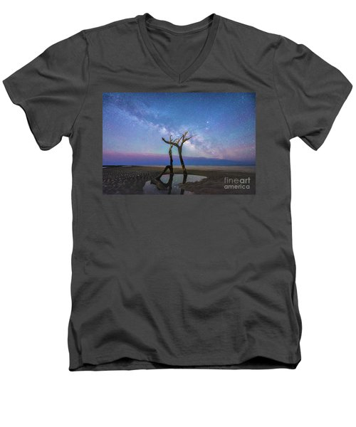 Charleston Milkyway  Men's V-Neck T-Shirt