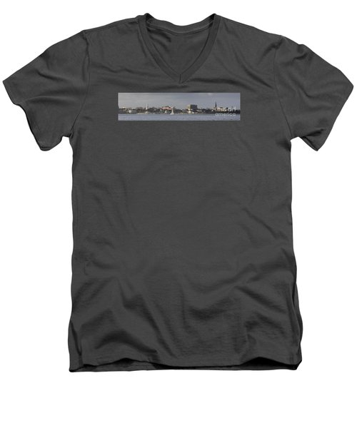 Charleston Sc Panorama Men's V-Neck T-Shirt