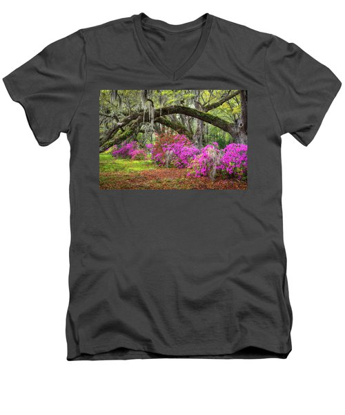Charleston South Carolina Spring Flowers Lowcountry Landscape Photography Men's V-Neck T-Shirt