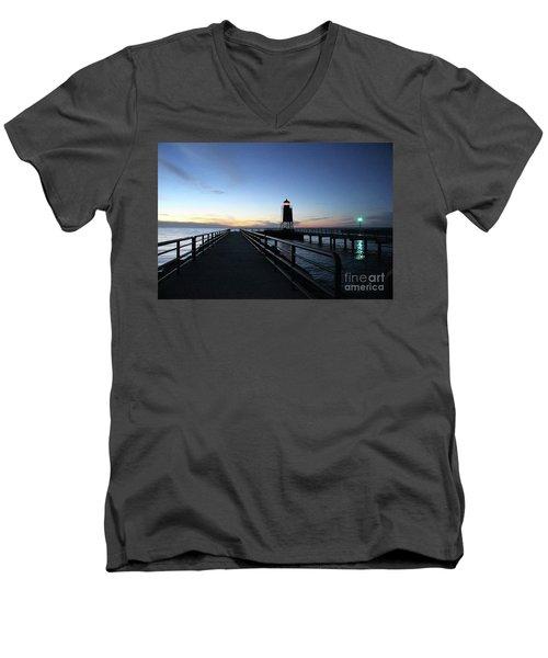 Charlevoix Light Tower Men's V-Neck T-Shirt